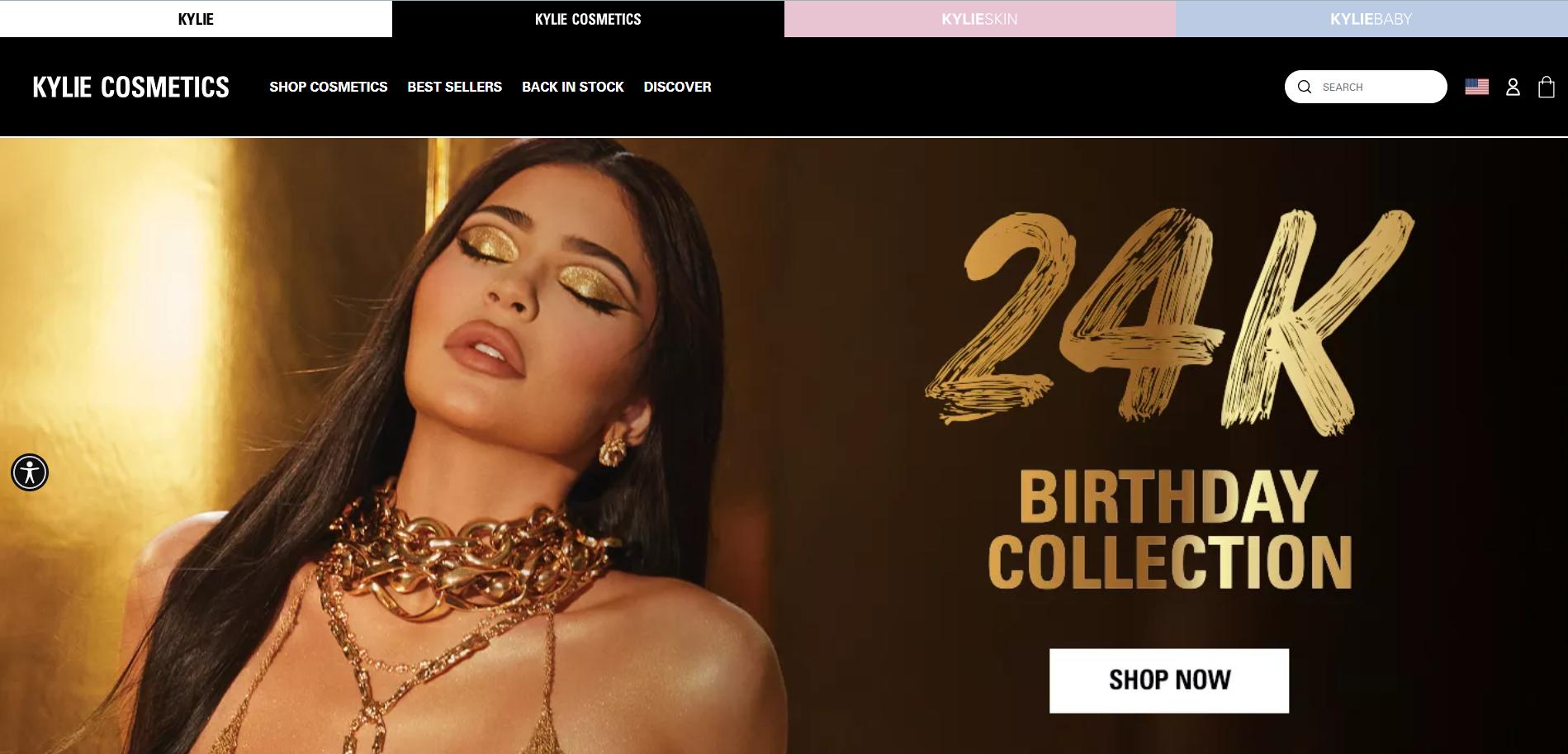 Kylie cosmetics website